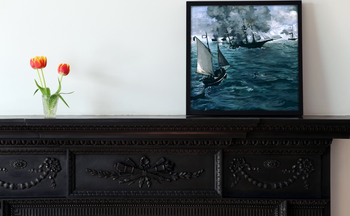 Minimalist decoration with Edouart Manet's painting.