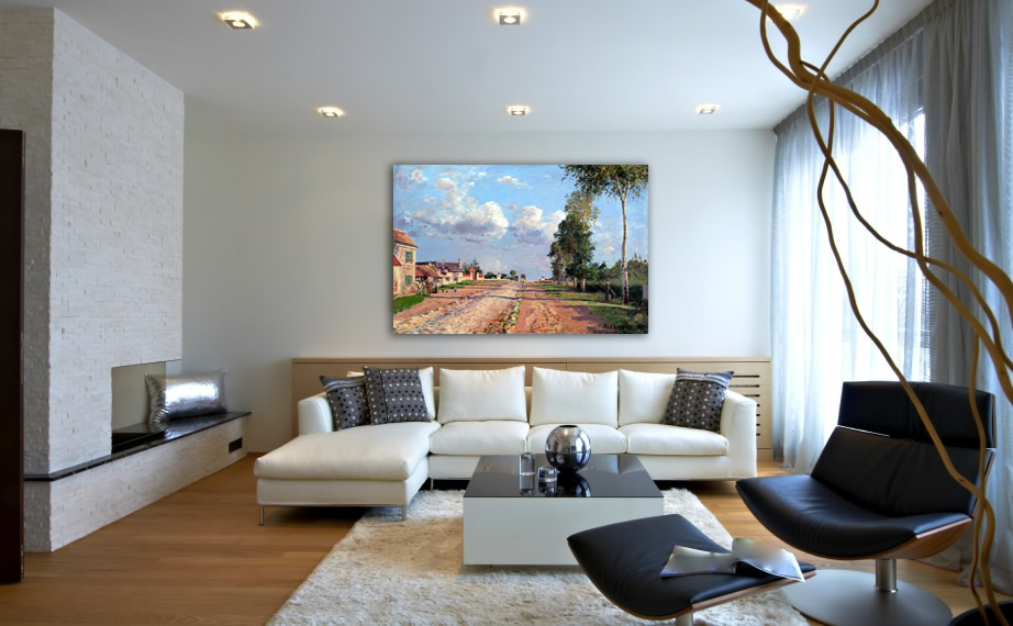Modern decoration with Camille Pissarro's painting