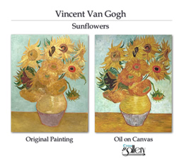 Vincent's sunflowers.