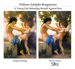 Custom painting by Bouguereau
