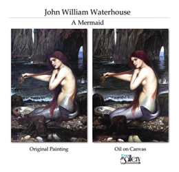 Copy of Waterhouse's realistic art.